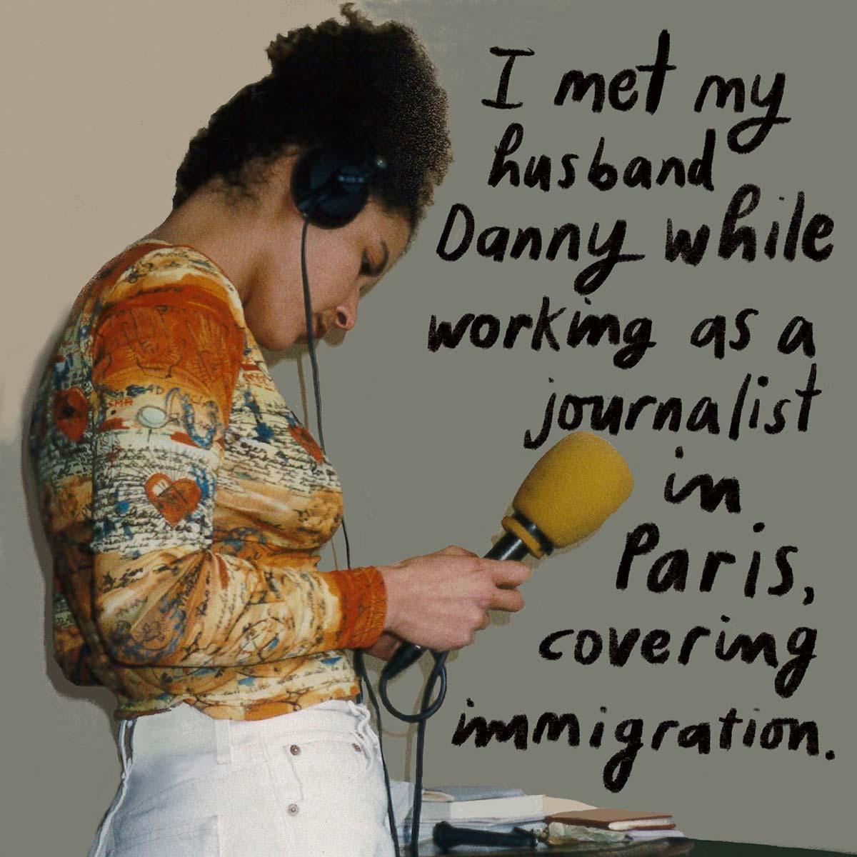 Mariane Pearl at work in Paris